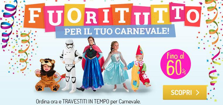Carnevale scontato fino al 60%!