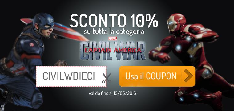 SCONTO 10% su Capitan America Civil War
