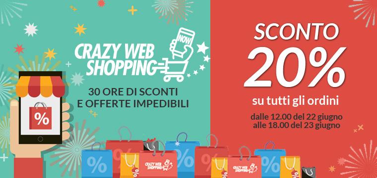 Crazy Web Shopping: 30 ore di offerte imperdibili su Jocando