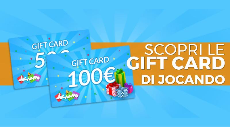 Regala… un regalo! Scopri le Gift Card di Jocando