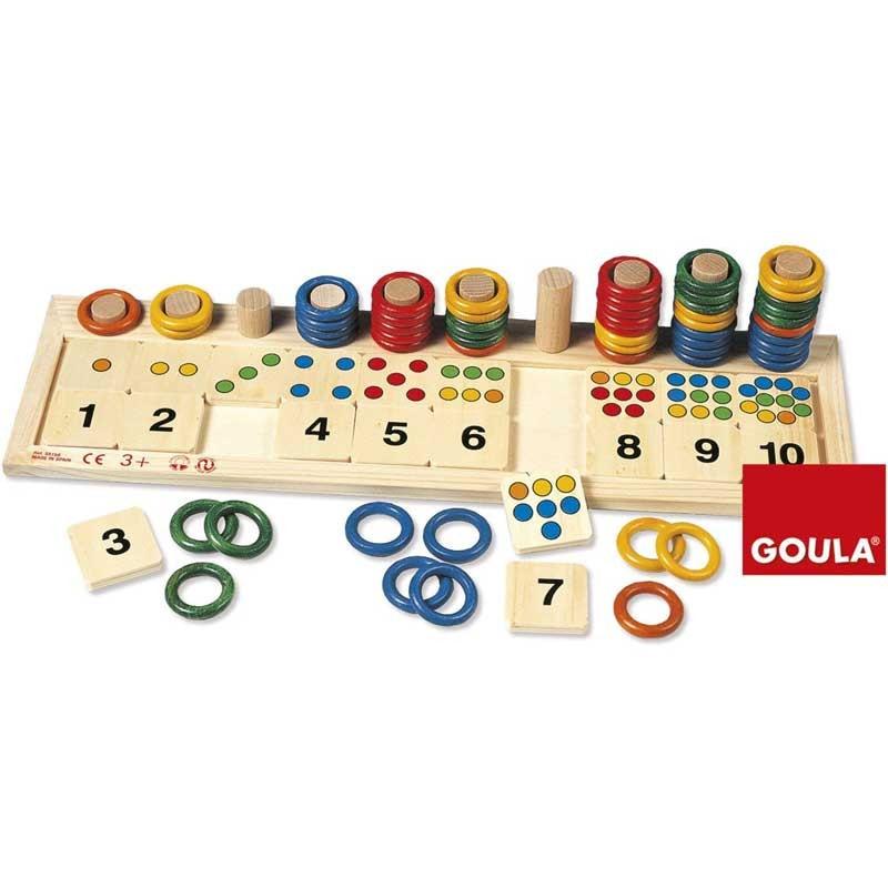 Abaco scalare con anelli per imparare i numeri