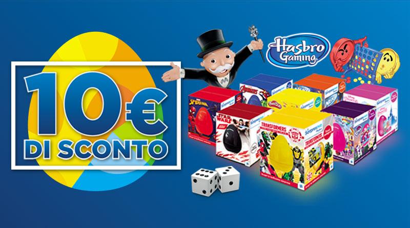 10 € di Sconto con i Sorpresovo e i Giochi in scatola Hasbro. Scopri l'offerta di Pasqua!