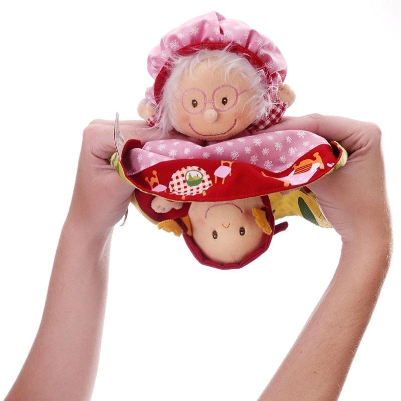 Cappuccetto Rosso e la Nonna Bambola Marionetta reversibile Racconta Storia Lilliputiens