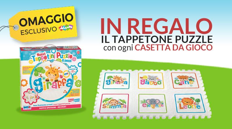 Tappetone puzzle in regalo con le casette da gioco! Esclusiva Jocando