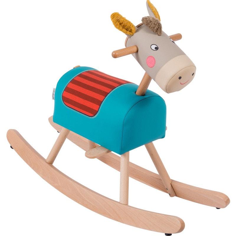 Cavallo a dondolo in legno Moulin Roty