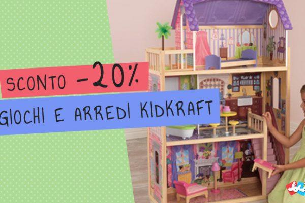 Sconto 20% su Giochi e Arredi in legno KidKraft