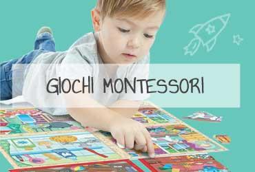 Giochi con il metodo montessori per bambini